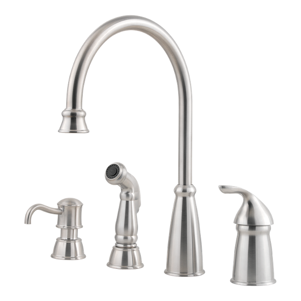 Prime Stainless Steel Avalon F 026 4Cbs 1 Handle Kitchen Faucet Download Free Architecture Designs Scobabritishbridgeorg