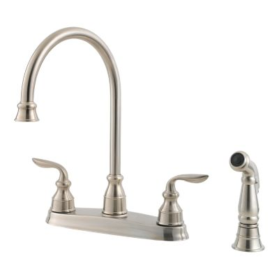 stainless steel avalon lf 036 4cbs 2 handle kitchen faucet pfister rh pfisterfaucets com