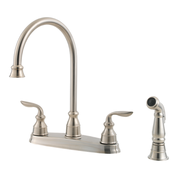 Amazing Stainless Steel Avalon Gt36 4Cbs 2 Handle Kitchen Faucet Home Interior And Landscaping Oversignezvosmurscom