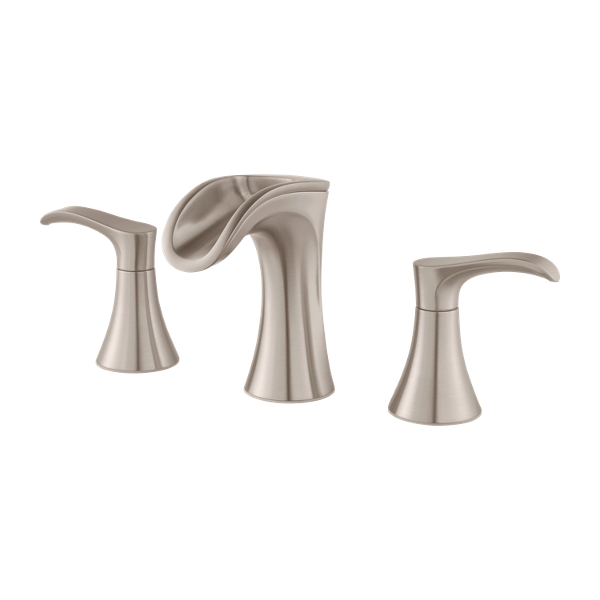 Brushed Nickel Brea Lf 049 Brkk 2 Handle 8 Widespread