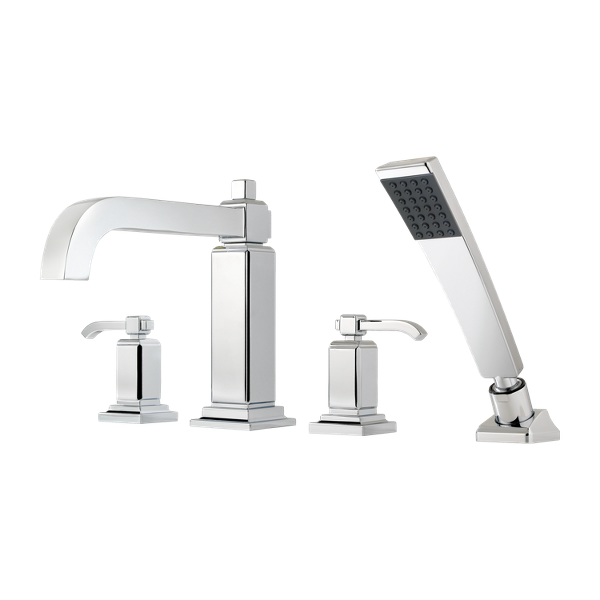 Primary Product Image for Carnegie 2-Handle Complete Roman Tub Trim with Hand Held Shower