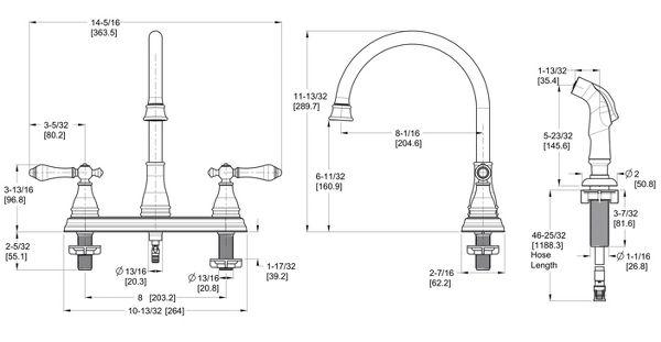 Polished Chrome Sonterra F-036-4SNC 2-Handle Kitchen