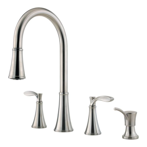 Stainless Steel Peteluma F 531 4pas 2 Handle Pull Down Kitchen