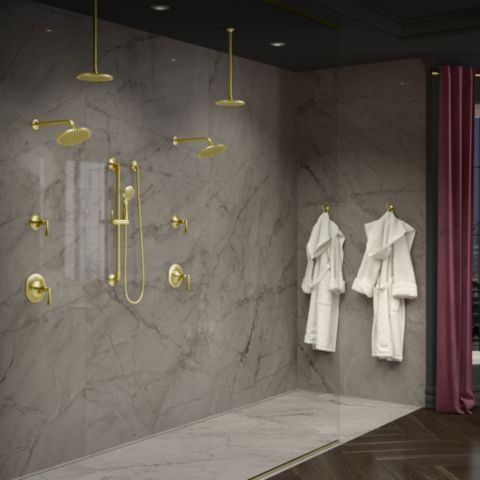 Rhen Bathroom Collections Brushed Gold