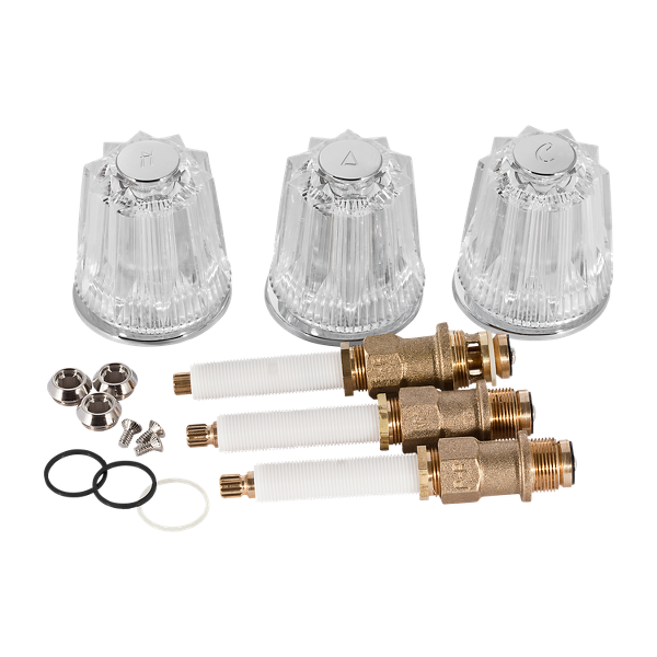 Primary Product Image for Genuine Replacement Part 3-Handle Rebuild Kit with Acrylic Knobs