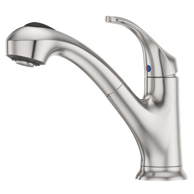 stainless steel shelton f wkp 700s 1 handle pull out kitchen faucet rh pfisterfaucets com
