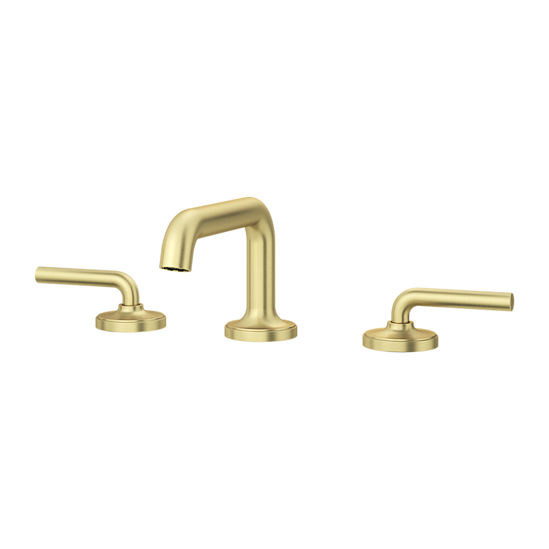 Tenet Widespread Faucet in Brushed Gold