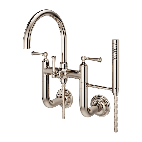 Primary Product Image for Tisbury Wall Mount 2-Handle Tub Filler with Hand Shower