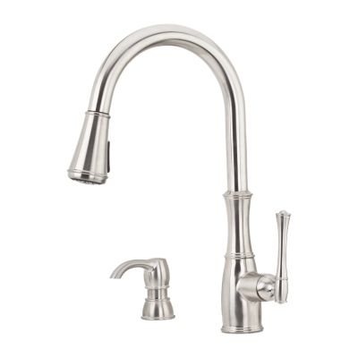stainless steel wheaton f 529 7whs 1 handle pull down kitchen faucet rh pfisterfaucets com