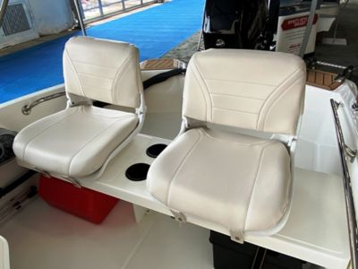 Seating- helm seat w/backrest (tan)(pair)