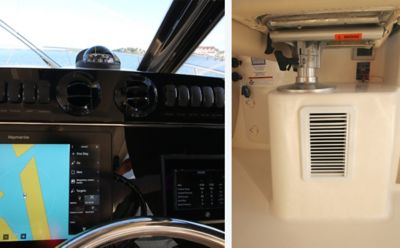 Air conditioning at helm deck