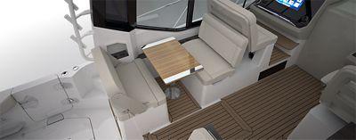 Flooring - cockpit teak wood flooring