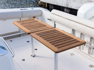 Table - solid teak aft cockpit tables (2)