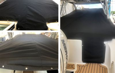 Cockpit seat cover package