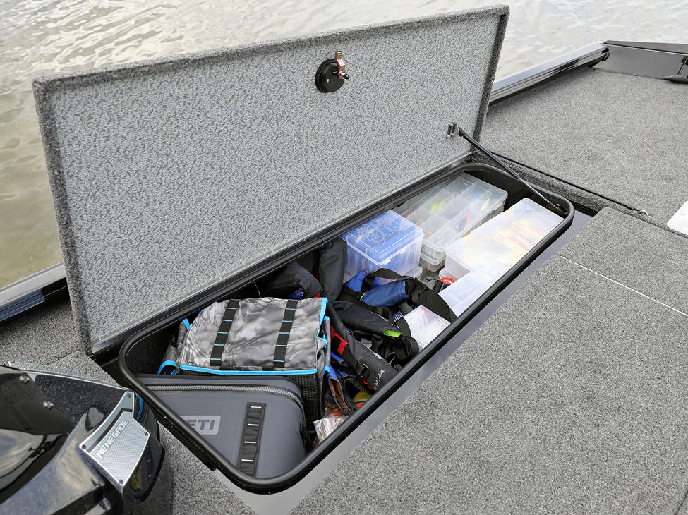 1875-1975 Renegade Bow Port Storage Compartment Open