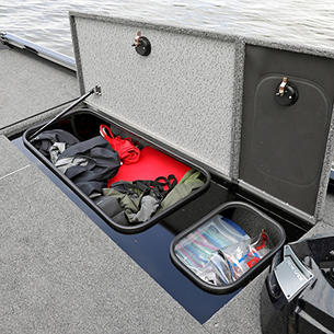 1875-1975 Renegade Bow Starboard Storage Compartments Open