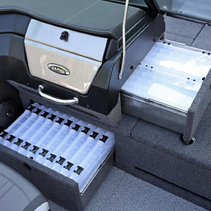 2075-2175 Pro-V Port Console Tackle Tray Storage Drawers Open