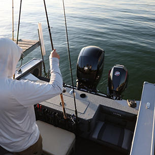 Fisherman Aft Deck Rod Rack