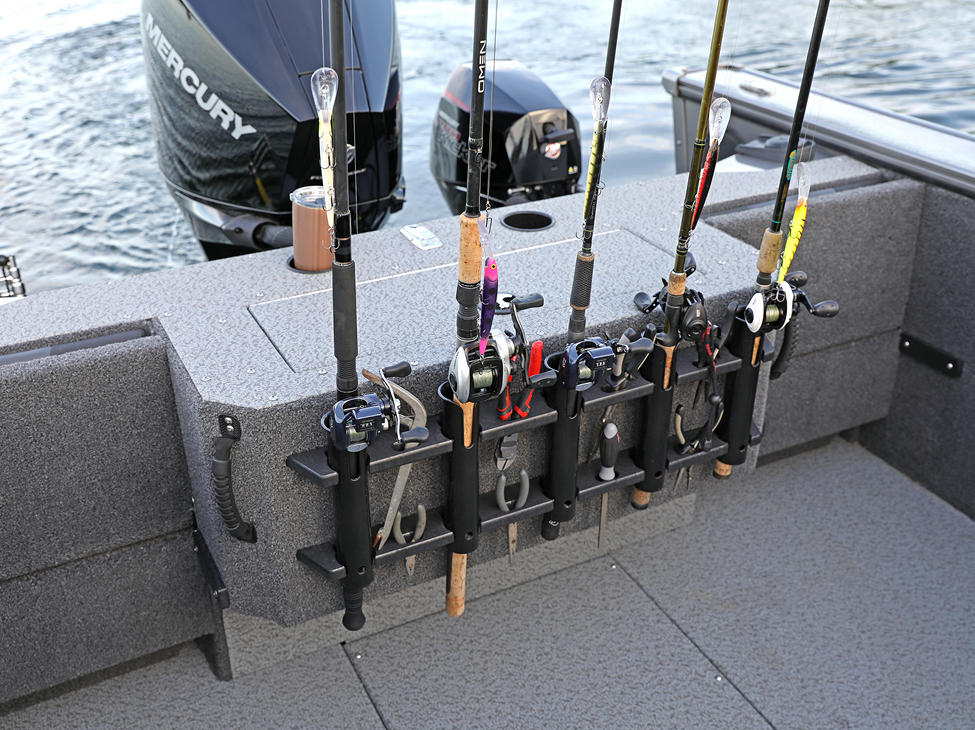Fisherman Aft Deck Rod and Tool Storage Rack