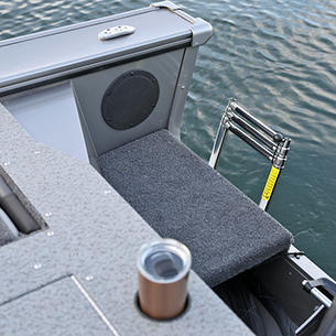 Fisherman Boarding Ladder (Shown with Optional Stainless Ladder)