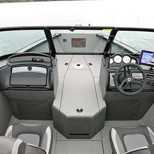 Fisherman Consoles and Full Windshield (Shown with Full Vinyl Option)