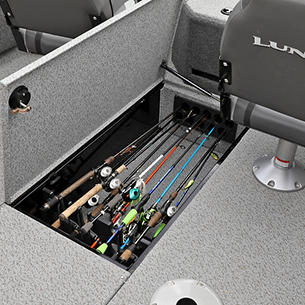 Fisherman In-Floor Rod Storage with Optional Rod Holders and Tubes