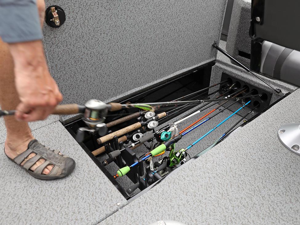 Fisherman In-Floor Rod Storage