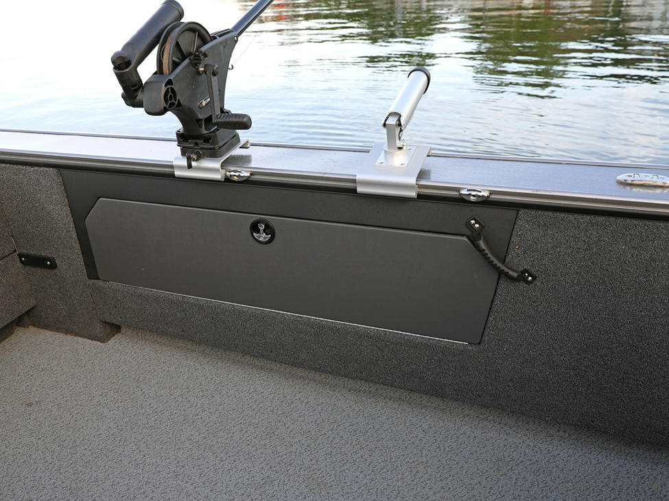 Fisherman Port Rod Storage Compartment Closed (Shown with Optional Lockable Doors)