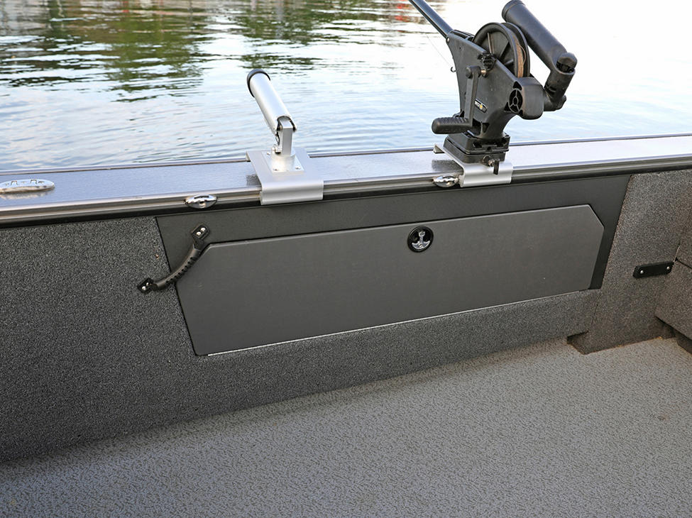 Fisherman Starboard Storage Compartment Closed (Shown with Optional Lockable Doors)