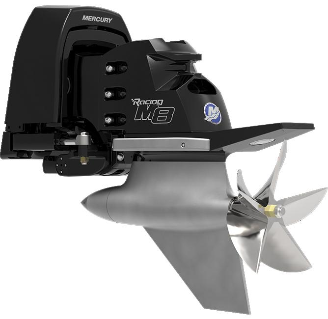 Mercury Racing M8 Drive Sterndrive Side angle
