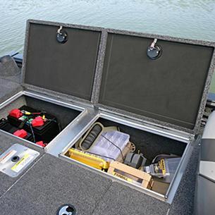 Pro-V-Musky-Aft-Deck-Port-Storage-Compartment-Open