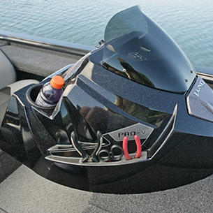 Pro-V-Musky-Bench-Optional-Port-Console-with-Integrated-Tool-and-Cup-Holder