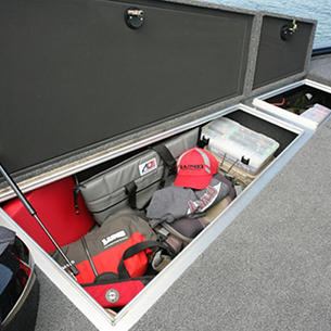 Pro-V-Musky-Bow-Deck-Port-Storage-Compartment-Open