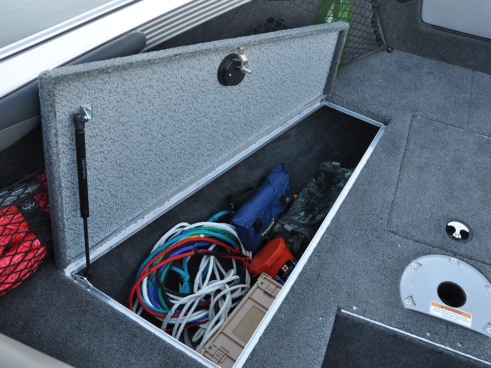 Tyee Bow Deck Port Storage Compartment