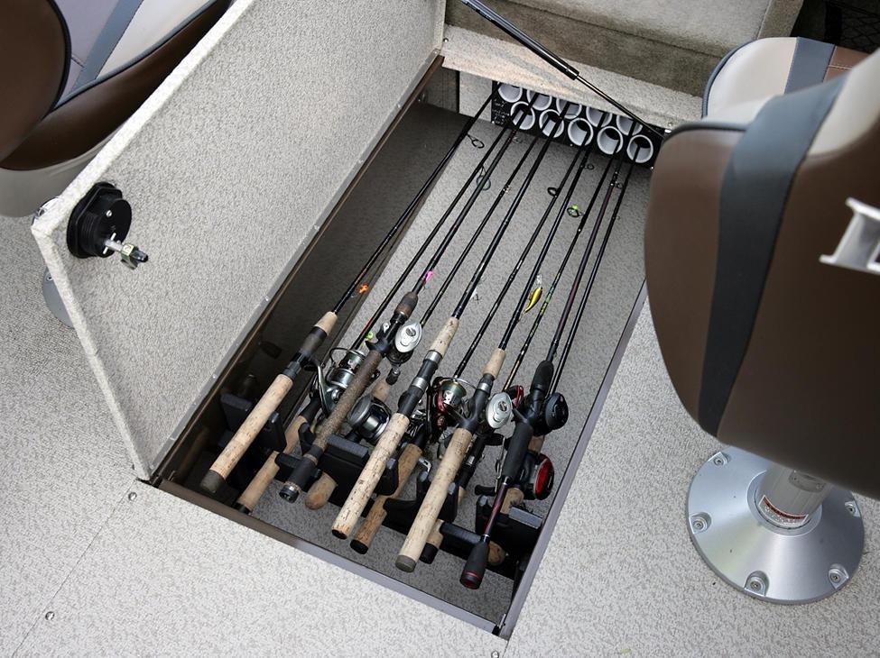 Tyee In-Floor Rod Locker Storage Compartment - Beige Interior