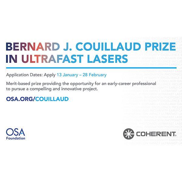 2021 Bernard J. Couillaud Prize Winner Selected