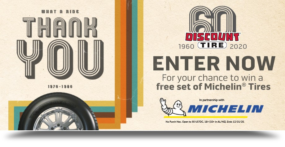 Discount Tire Direct 60 Years Sweepstakes