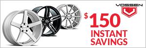 $150 Instant Savings on Vossen
