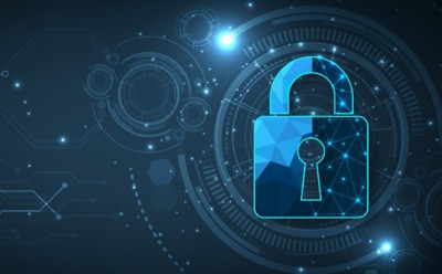 Internet security and Data prevent concept.
