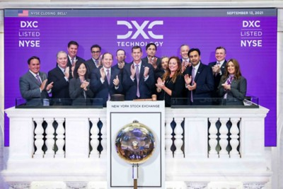 DXC ringing the bell at NYSE