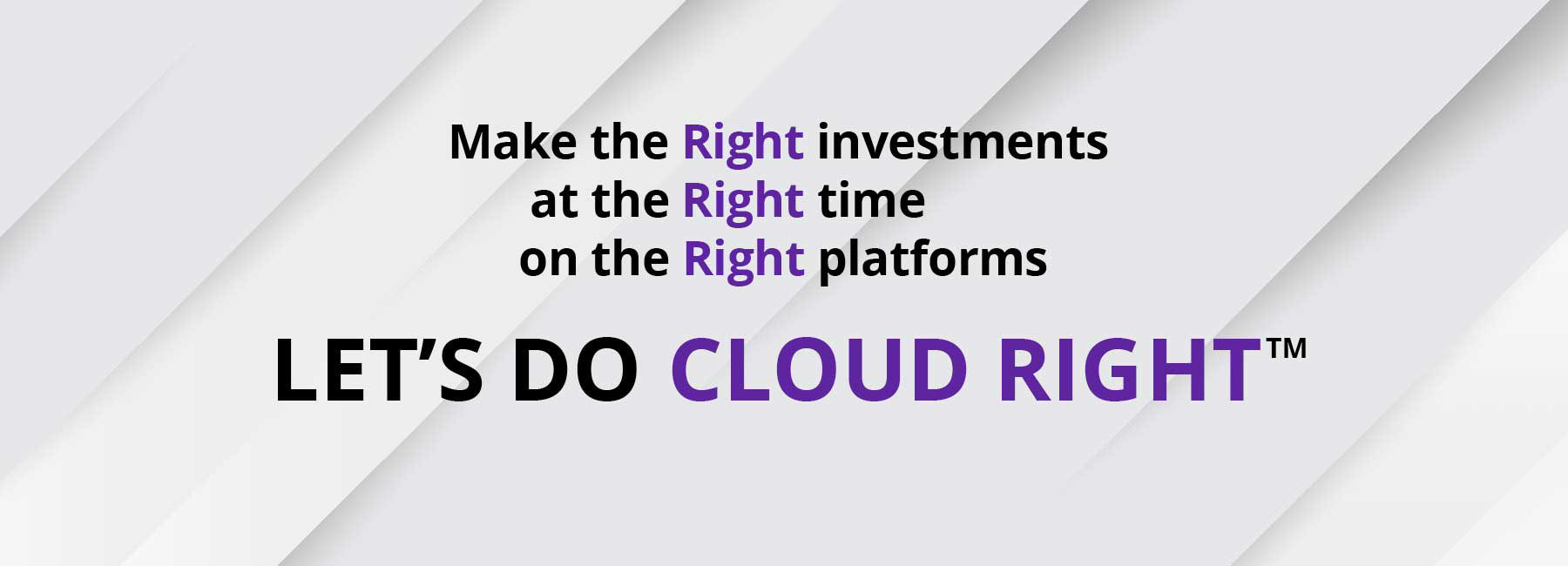 Let's do Cloud Right