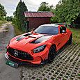 LLumar Platinum PPF protects orange AMG GT Black Series from road damage