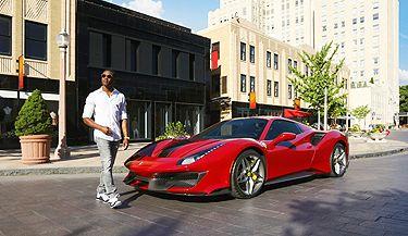 Ceramic window tint used to protect red Ferrari
