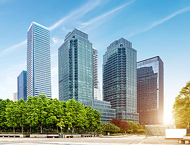 Commercial window film protects high rises