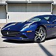 Blue Ferrari California T protected by LLumar Platinum PPF