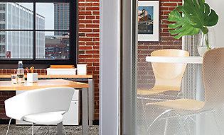 Gradient window film creates mild privacy transition