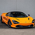 Orange McLaren 720 with LLumar ATC window film for premium look and UV protection