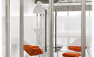 Patterned film adds depth to interior office windows
