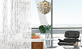 Patterned window film breaks up room and adds privacy