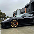 Top-of-the-line LLumar FormulaOne Stratos ceramic window tint provides outstanding driver comfort for Porsche GT3RS